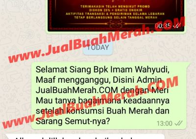 Testimony Jual Buah Merah Papua Jakarta